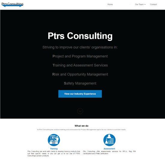 Ptrs Consulting - Project Management training and assessment